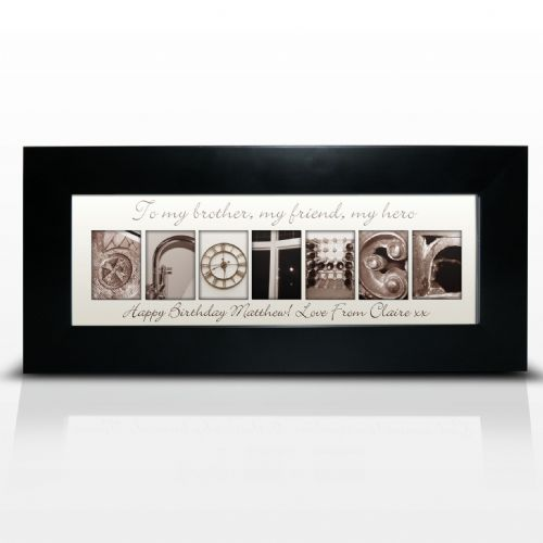 Personalised Affection Art Brother Small Frame